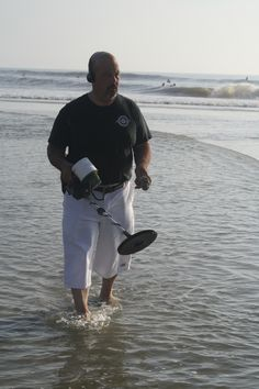 Treasure Hunting In The Surf Find This Pin And More On Jacksonville Beach Activity