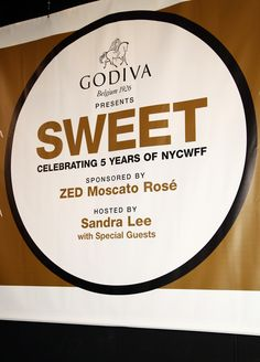 GODIVA presents SWEET! Celebrating Five Years of NYCWFF sponsored by ZED Moscato Rosé. #GODIVA #NYCWFF
