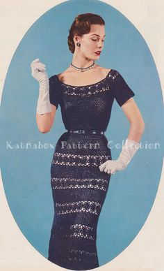 Instant Download Vintage Ladies' Crocheted by KatnaboxCrochet