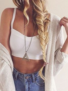 White Strappy Back Crop Top