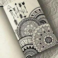drawing, love, and mandala image art drawings, art - mandala art sketch Doodle Art Drawing, Mandalas Drawing, Pencil Art Drawings, Art Drawings Sketches, Zentangle Drawings, Zentangles, Drawing Ideas, Easy Mandala Drawing, Mandala Doodle