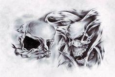Tetování - lebka | Tetování - Tattoo