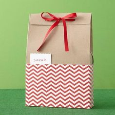 Gift Wrapping Idea: To wrap a piece of clothing without a box, decorate an old cereal box with holiday colors!