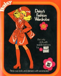 1973: A dress-up book for designer Mary Quant's Daisy doll. I had a few of these and I loved them!