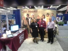 Catherine Gibson, Brian Blake and Ronnie Taylor at the TEEX booth during the National  League of Cities conference last week.