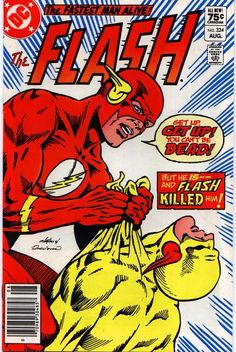 The Flash DC Comics Book cover art super heroes villians Old Comic Books, Vintage Comic Books, Vintage Comics, Comic Book Covers, Marvel Dc Comics, Flash Comics, Bd Comics, Caricatures, Flash Comic Book