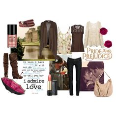 Pride & Prejudice by tonya42, via Polyvore - tank, long-sleeved top, jeans, cardigan, boots.  cute outfit for fall, winter