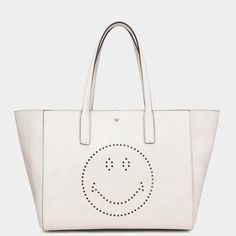 Anya Hindmarch Smiley Shopper Featherweight Ebury - Island Home Palm Beach Tote Purse, Clutch Bag, Crossbody Bag, Tote Bags, Holiday Wardrobe, Anya Hindmarch, Smiley, Fashion Bags, Shoulder Bag