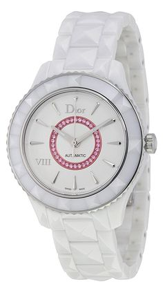 Christian Dior VIII White Dial Ceramic Ladies Watch CD1245EFC001 *** You can find out more details at the link of the image.