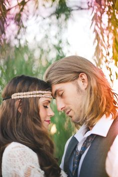 totally gorgeous bohemian couple // photo by ChristinaLillyPhotography.com