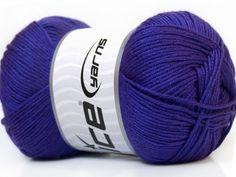 Baby AntiBacterial Purple knitting yarn from ice yarn