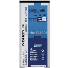 NOHON Original Quality 1860mAh Rechargeable Li-ion Battery for Samsung Galaxy Alpha G850 SM-G850F G8508S G850M EB-BG850BBC
