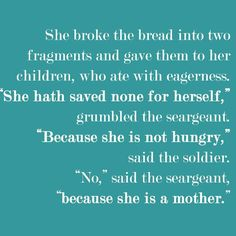 I thought this was powerful and exemplified my mom...she always made sure we had, period! #mom #saturday #mothersday #mother