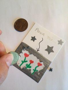 Tickets à gratter - Les Pious de Chatou (Assistante Maternelle Chatou Fathers Day Crafts, Valentine Day Crafts, Holiday Crafts, Valentines, Diy For Kids, Crafts For Kids, Diy Paper, Paper Crafts, Kids Studio
