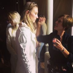 our white coat for Graeme Black EIFF 2014 Backstage, Collaboration, Knitwear, It Is Finished, Couple Photos, Knitting, Concert, Edinburgh, Coat