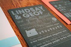 Custom letterpress wedding invitations - brown + silver - Boxcar Press by boxcarpress, via Flickr