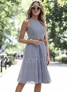 Ruffles Sleeveless Knee-Length A-line Dress - Floryday
