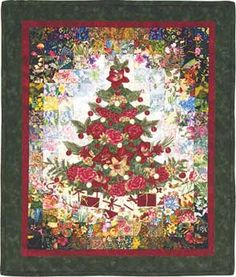 Christmas Tree Watercolor Quilt