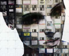 Nick Gentry - Art (recycled floppy disks as canvases)