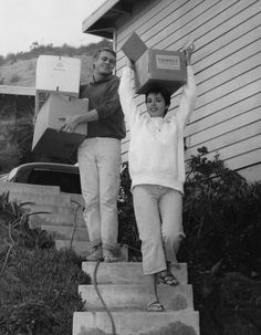 Steve McQueen and his first wife, actor Neile Adam