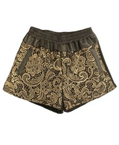 This is a monochromatic air of shorts There are different shades of brown in these shorts which makes them monochromatic brown is a very warming color it is calming