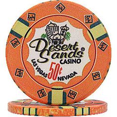 Desert Sands Casino Ceramic Poker Chip