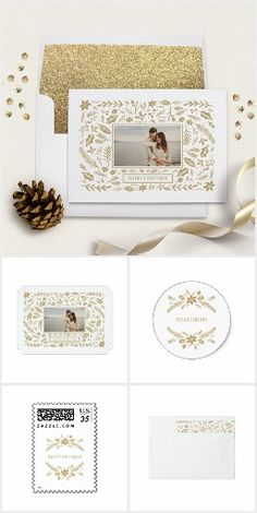 Winter Foliage Gold Holiday Collection