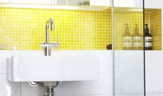 Bathroom Inspiration | Colourful Style Bathroom in Williamstown - VIC | Reece Bathrooms - mosaics in wall niche
