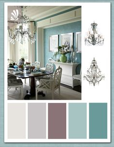 Plum and Teal ~ dining area