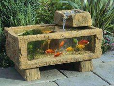 Aquarium carved in stone