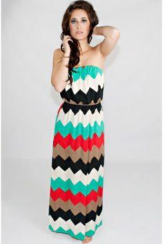 Reach The Peaks Chevron Maxi Dress
