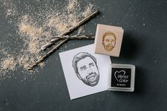This custom rubber stamp portrait makes a truly unique stocking stuffer gift for Christmas!