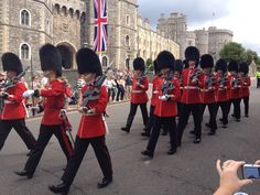 Changing of the guard, Windsor Castle.