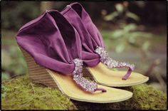 Purple suede fabric wedges Womens sandals Size 3740 by iLANDbali, on Etsy