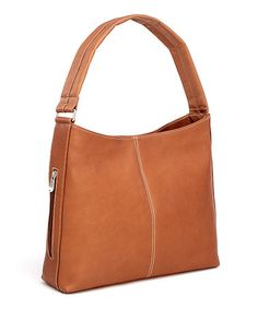 Take a look at this Tan Side-Zip Tote by Le Donne on #zulily today!