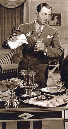 Vintage Chic: Hosting a Vintage Style Cocktail Party Part 2 (Bonus points on this one--William Powell--my maternal grandfather was a dapper fellow who as a young man looked very much like WP--no wonder grandma fell for him ;-) )