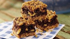 Betty Crocker's Diabetes Cookbook shares a recipe! Two for one!  Two classic dessert tastes, luscious brownies and brown sugared oats, layered into one rich, delicious treat.