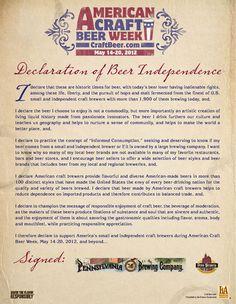 American Craft Beer Week 2012. Declaration signed!