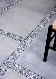 Possibly stained Concrete with pebbles - outdoor patio #GlitterGrout