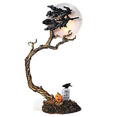 department 56 halloween snow village witch by the light of the