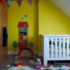 Fun-yellow-nursery-room