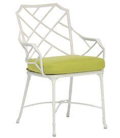 white chair, bright cushion!