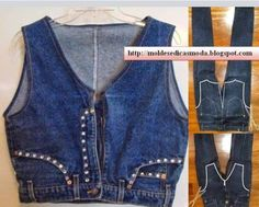 Top DIY-Ideen, um alte Jeans in neue Mode umzuwandeln ideas clothes old jeans DIY Ideas to Refashion Old Jeans Free Templates - Repurpose Old Jeans Diy Clothing, Sewing Clothes, Diy Clothes Jeans, Refashioned Clothes, Clothes Refashion, Casual Clothes, Gilet Jeans, Jeans Pants, Trousers
