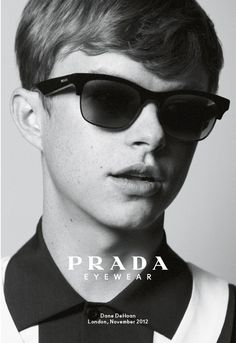 Dane Dehaan for Prada s/s '13 - this multi-talented American also featured in their eyewear campaign.