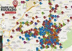 """Criado em Salvador, o mapa interativo """"Onde fui roubado"""" já se espalhou para várias cidades do país."""
