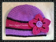 Crochet Hat  Can be purchase from my facebook site.   https://m.facebook.com/jitterssnappycreations