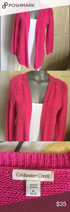 Ladies ColdWaterCreek 3/4 sleeve sweater Beautiful fun ladies 3/4 sleeve sweater. In excellent condition and from a non-smoking home Coldwater Creek Sweaters Cardigans