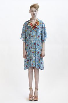 125/F09079 Long Cardigan with Kimono Sleeve  130/F01419S Tunic with Grosgrain Strap  900/F07415 Spiral Shibori Neckpiece