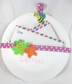 Paper Plate Letter Holder DIY Craft Project. With a little more decorative coverage this could as chic as it handy