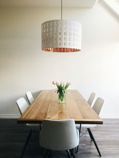 Nym lamp shade ikea love the copper lining bathroom ideas minimalist dining room with ikea pendant light in copper and white minimalist myhouse aloadofball Gallery